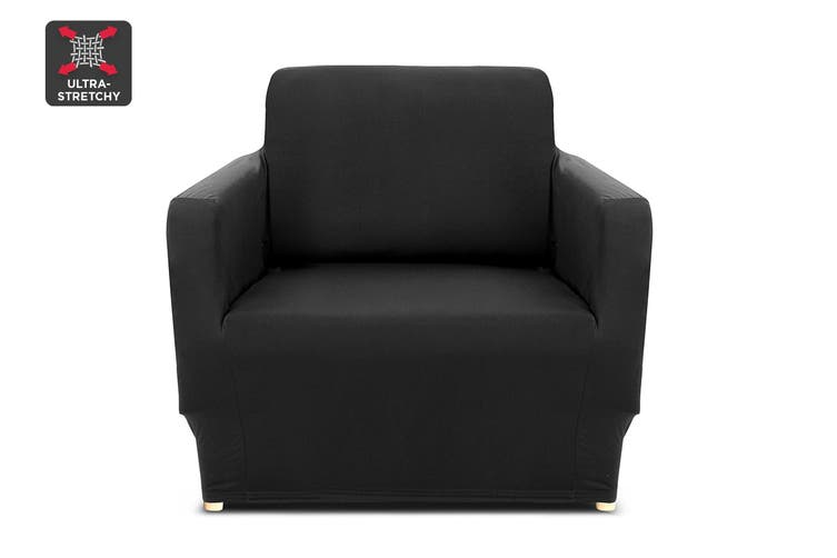 Ovela 1 Seater Sofa Cover Stretch (Black)