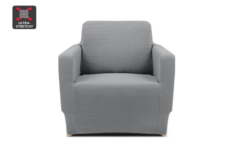 Ovela 1 Seater Sofa Cover Waffle (Grey)