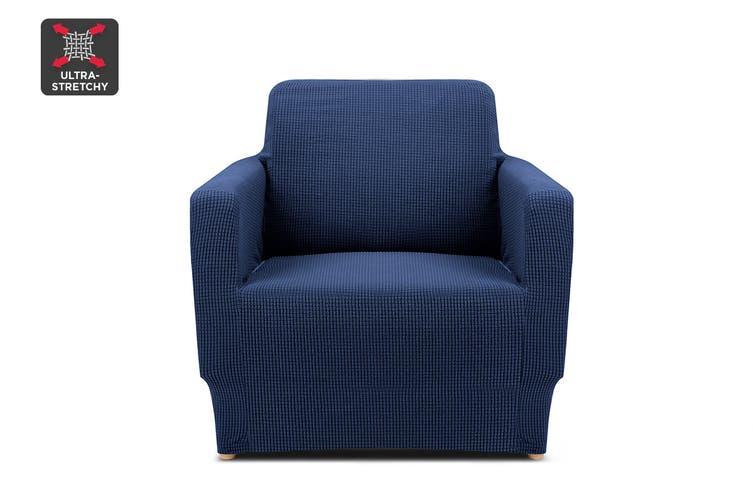 Ovela 1 Seater Sofa Cover Waffle (Navy)
