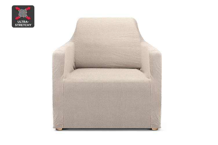 Ovela 1 Seater Sofa Cover Waffle (Sand)