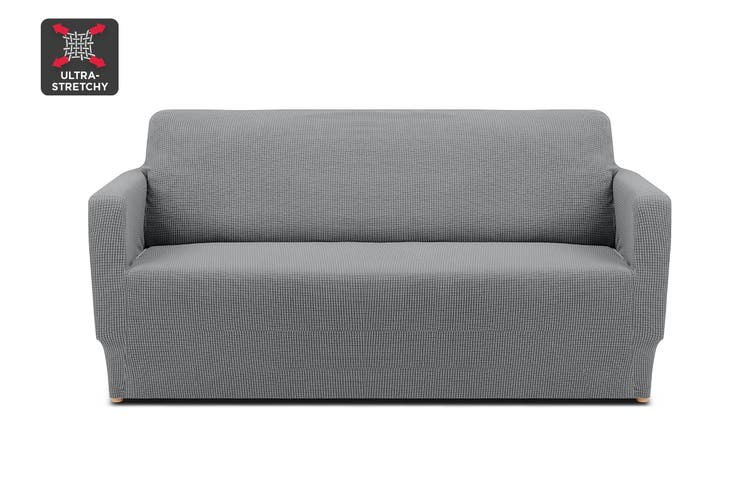 Ovela 2 Seater Sofa Cover Waffle (Grey)