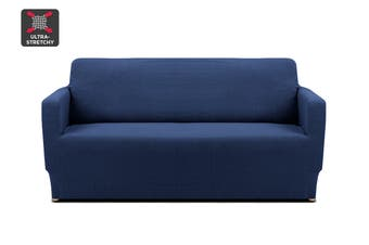 Ovela 2 Seater Sofa Cover Waffle (Navy)
