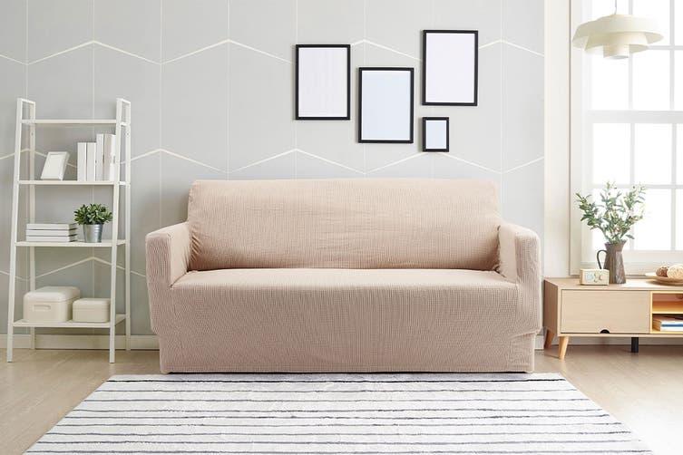 Ovela 2 Seater Sofa Cover Waffle (Sand)