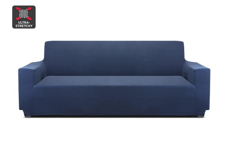 Ovela 3 Seater Sofa Cover Stretch (Navy)