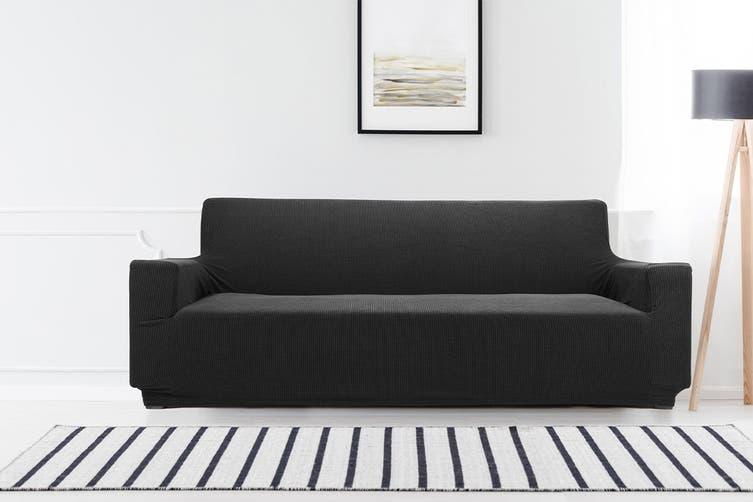 Ovela 3 Seater Sofa Cover Waffle (Black)