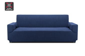 Ovela 3 Seater Sofa Cover Waffle (Navy)
