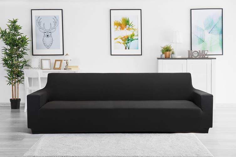 Ovela 4 Seater Sofa Cover Stretch (Black)