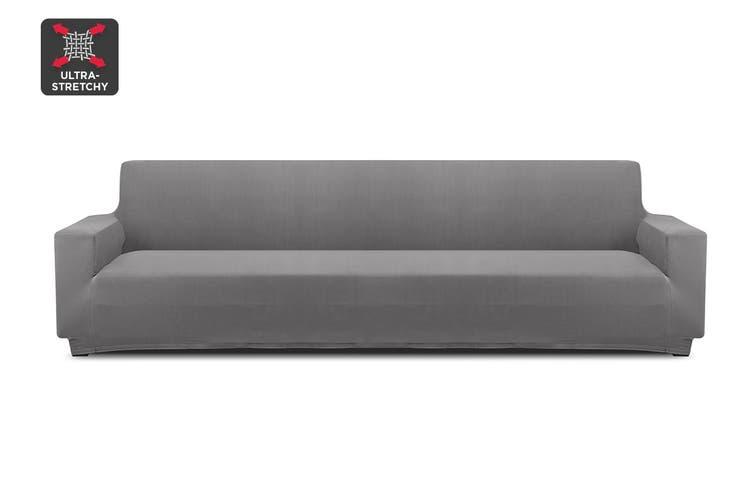 Ovela 4 Seater Sofa Cover Stretch (Charcoal)