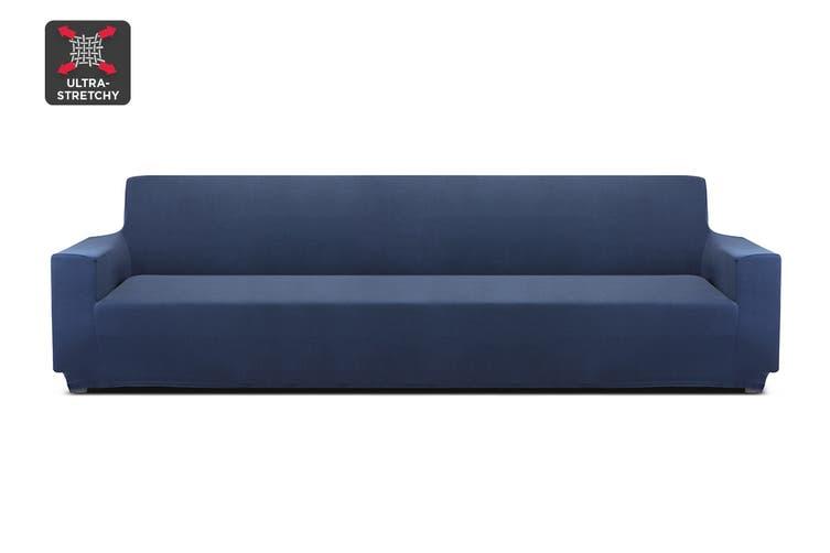 Ovela 4 Seater Sofa Cover Stretch (Navy)