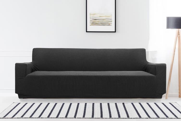 Ovela 4 Seater Sofa Cover Waffle (Black)