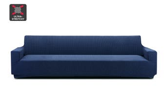 Ovela 4 Seater Sofa Cover Waffle (Navy)