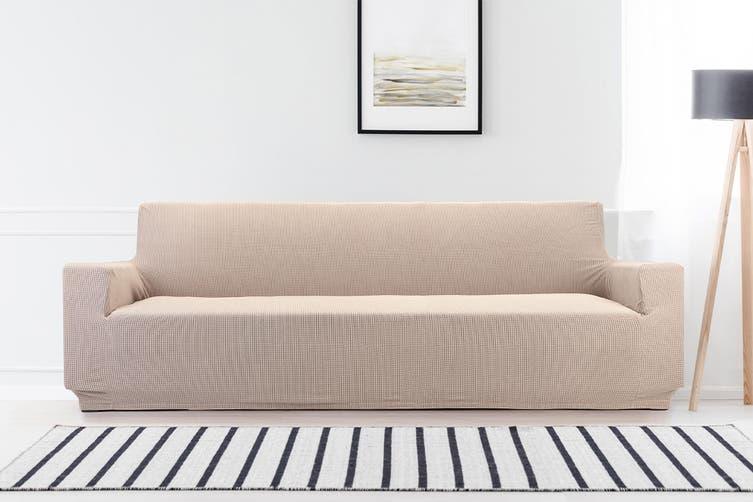 Ovela 4 Seater Sofa Cover Waffle (Sand)