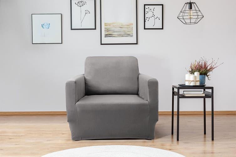 Ovela 1 Seater Sofa Cover Stretch (Charcoal)