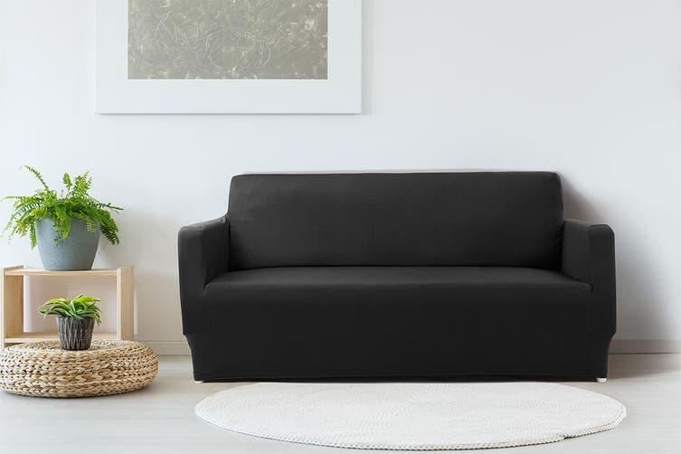 Ovela 2 Seater Sofa Cover Stretch (Black)