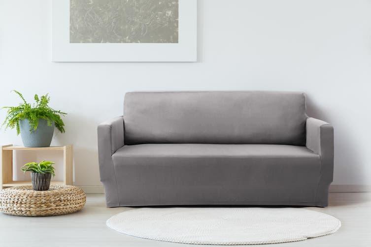 Ovela 2 Seater Sofa Cover Stretch (Charcoal)