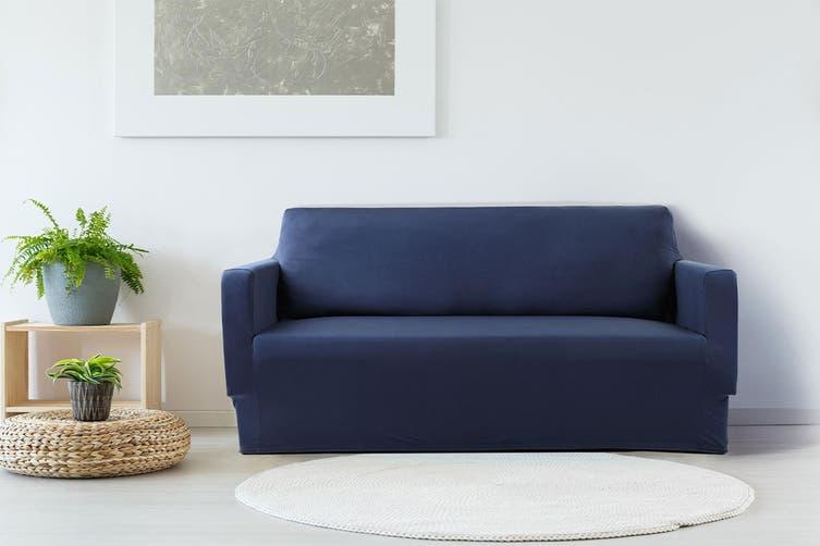 Ovela 2 Seater Sofa Cover Stretch (Navy)