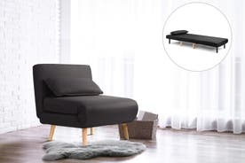 Ovela Jepson Convertible Lounge Chair and Bed (Black)