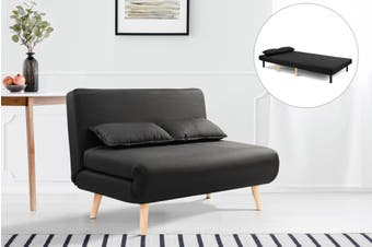 Ovela Jepson 2 Seater Sofa Bed (Black)