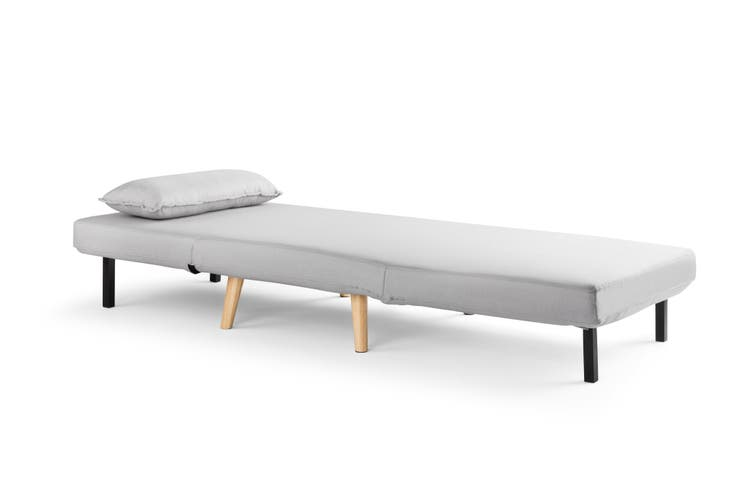 Ovela Jepson Convertible Lounge Chair and Bed (Light Grey)