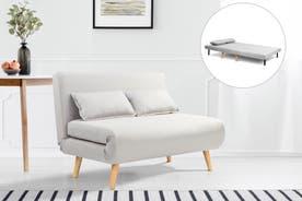 Ovela Jepson 2 Seater Sofa Bed (Light Grey)