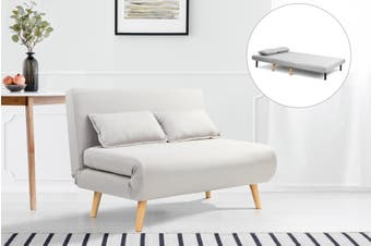 Ovela Jepson 2 Seater Sofa Bed (Light Grey)
