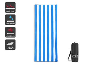 Ovela Sand Free Beach Towel (Blue, 200 x 80cm)