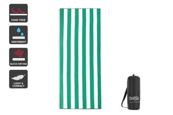 Ovela Sand Free Beach Towel (Green, 200 x 80cm)