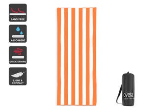 Ovela Sand Free Beach Towel (Orange, 200 x 80cm)