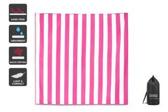 Ovela Sand Free Beach Towel (Pink, 160 x 160cm)