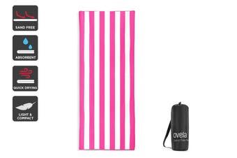 Ovela Sand Free Beach Towel (Pink, 200 x 80cm)