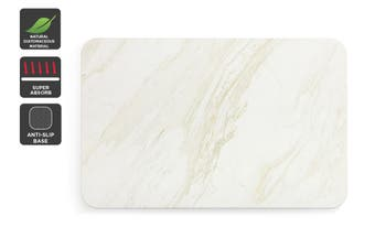 Ovela Ocean Marble Natural Super Absorbent Bathroom Floor Mat