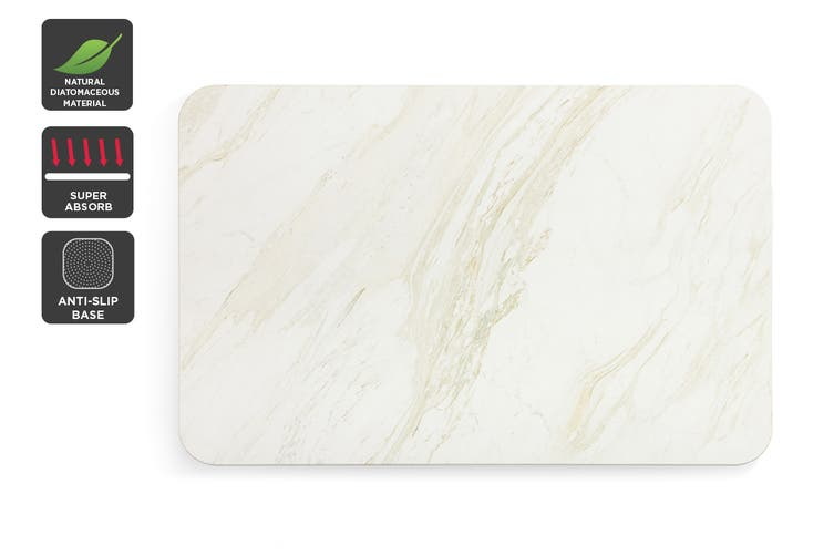Ovela Ocean Marble Natural Super Absorbent Bathroom Floor Mat