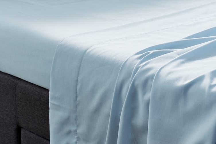 Ovela Bamboo Blend Bed Sheet Set (Super King, Blue)