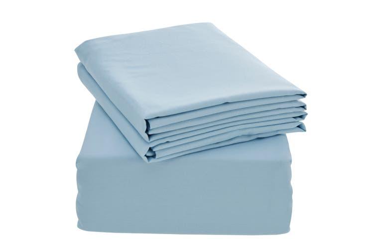 Ovela Bamboo Blend Bed Sheet Set (Double, Blue)