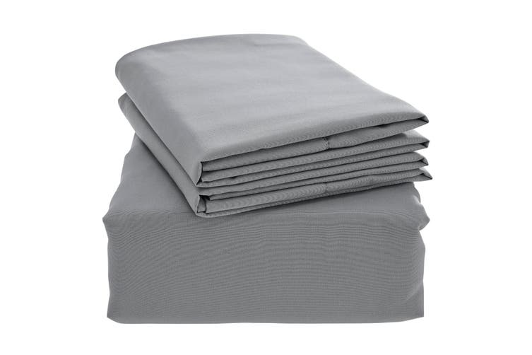 Ovela Bamboo Blend Bed Sheet Set (King, Grey)