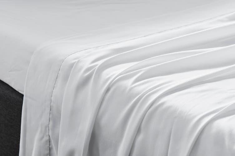 Ovela Bamboo Blend Bed Sheet Set (Queen, White)