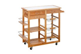 Ovela Sanibel Wooden Kitchen Trolley