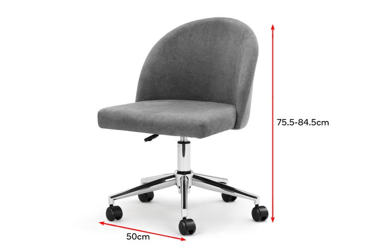 Ovela Waterford Office Chair (Charcoal)