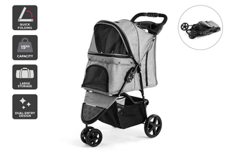 Pawever Pets 3-Wheeler Pet Stroller