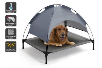 Pawever Pets Elevated Pet Bed with UV30+ Canopy