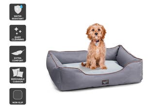 Pawever Pets Anti-Spill Water-Resistant Pet Bed (Small)
