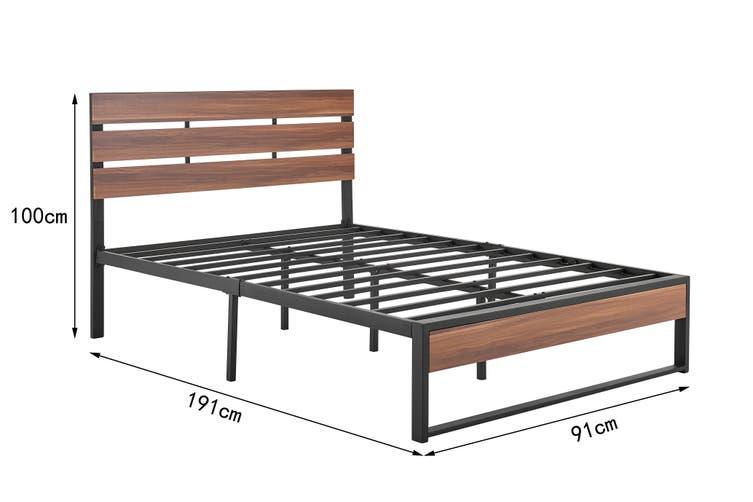 Shangri-La San Antonio Bed (Single, Walnut)