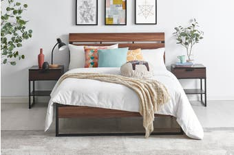 Shangri-La San Antonio Bed (Single, Walnut)