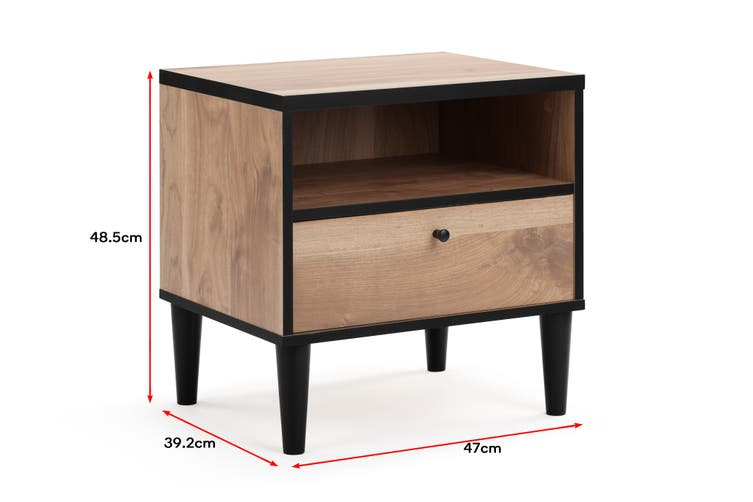 Shangri-La Avalon Bedside Table (Oak)