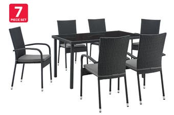 Shangri-La Balmoral 7 Piece Outdoor Furniture Dining Set (Grey)