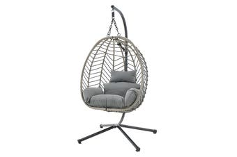 Shangri-La Mackenzie Outdoor Furniture Egg Chair (Grey, Grey)
