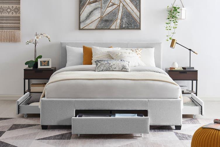Shangri La Bed Frame Venice 3 Drawer, Queen Bed Frame Adelaide Gumtree