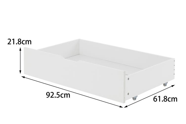 Shangri-La Set of 2 California Bed Drawers (White)