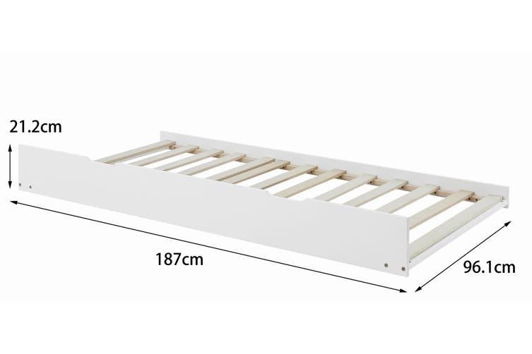Shangri-La California Trundle Bed (White)