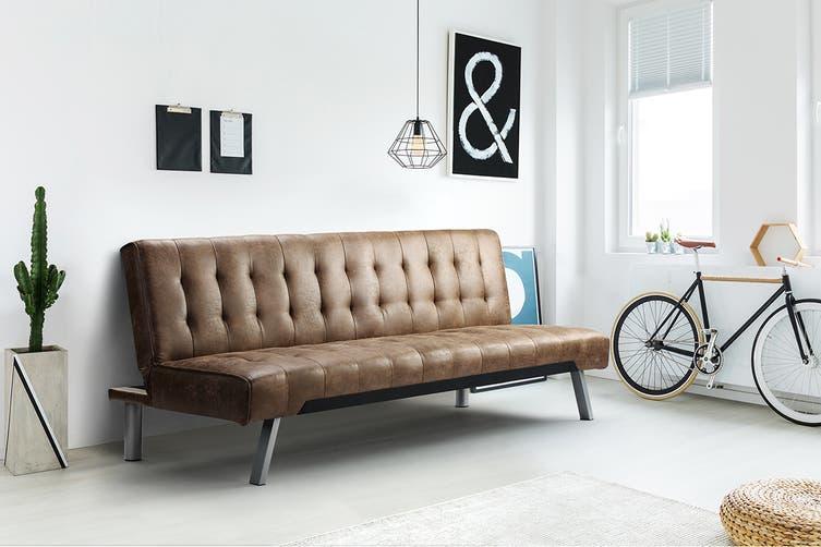 Shangri-La Chelsea Sofa Bed (Dark Brown)